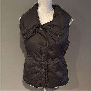 Eileen Fisher Black Down Vest Small Winter Warm